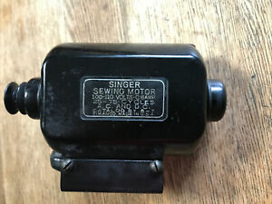 Singer Sewing Machine Motor 6-7 With Mounting Bracket For Model 66 Machine