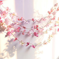 1.5M Artificial Flower Garland Plant Foliage Rattan Wedding Decor Pink White