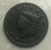 1828 Coronet Head Large Cent - Small Wide Date