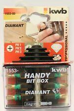 kwb handy Bit-Box Diamant, 7-teilig, Schnellwechsel Bit-Halter Bits 1553-00