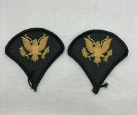 Lot Of 2 WW2 US Army Specialist Rank E4 Gold Eagle Shoulder Uniform Patches