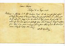 W206-MEDICINA-BOLOGNA AUTOGRAFO ANTONIO ALESSANDRINI 1848