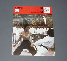 FICHE KARATE KUNG-FU BRUCE LEE JEET-KUNE-DO