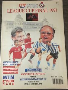 Manchester United V Sheffield Wednesday League Cup Final 1991
