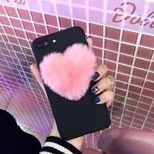 Fashion 3D Furry Cute Love Hearts Phone Case For Apple iphone X 6 6S 7 8 plus 5