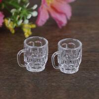 2Pcs 1:12 Dollhouse mini resin wine glass simulation drink cup model toys  yc YK