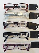 READING GLASSES -COOL SIDE DESIGN - 2 PAIR / $5.99 - 1.00-3.50 *NICE LOOKING*