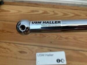 USM Haller 4 Stk. 35cm Rohre, 1x original mit AUFKLEBER, 4 Kugeln, 8 Konnektoren