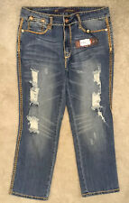 ED HARDY STRESSED JEANS by CHRISTIAN AUDIGIER, 29/27 UNUSED, BAGGED & TAGGED. #2