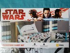 Disney Star Wars! Full Size Microfiber 4-Piece Sheet Set Reversible Pillowcase