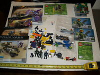 Lego Lot pieces - figures and instruction books--Minecraft-Halo Wars