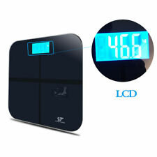 397LB 180KG LCD Tempered Glass Weight Heath Body Digital Bathroom Fitness Scale