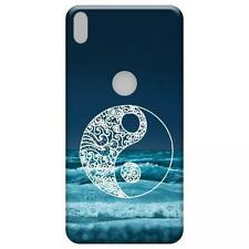 Funda Carcasa GEL silicona para BQ aquaris x5 PLUS x5+ dibujos azul ying