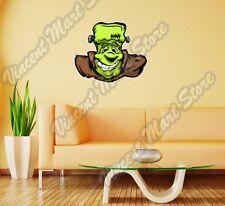 "Smiling Frankenstein Creature Monster Wall Sticker Room Interior Decor 25""X20"""