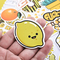 50Pcs Cartoon Yellow Stickers Children Toy Waterproof Sticker Helmet Car Decals