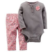 Carters Baby Girl Clothes 3 24 Months Pointelle Bodysuit & Pants Set Outfit