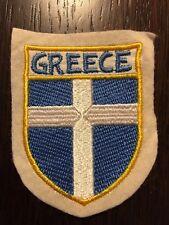 Patch toppa CM8X6 scudetto in stoffa ricamato GREECE GRECIA