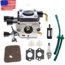 NEW Carburetor w/Fuel Line Kit For STIHL KM55 HL45 KM55R FS38 FS55 FS55R FS55RC
