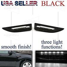 FOR NISSAN ONLY!! JDM FENDER GRILLE LED SIDE MARKER+PARKING+PUDDLE LIGHTS BLACK