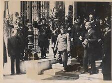 CHANCELIER SCHUSCHNIGG ET MUSSOLINI ROME 1937 COPYRIGHT  2 PHOTOGRAPHIES TRAMPUS