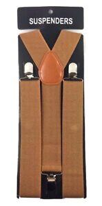 Wide Suspenders For Mens Suspenders Adjustable Clip-On Y-Back Heavy Duty Black