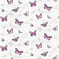 Puppenhaus Miniatur Schmetterlinge auf weiß Tapete