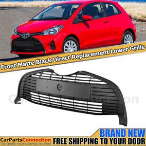 Front Lower Bottom Center Grille for Toyota Yaris Hatchback 15-18 Matte Black