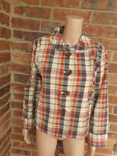 New J CREW Plaid Jacket Size 12 Women Blazer Lined 100% Cotton Pockets
