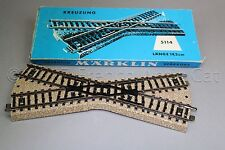 Y076 Marklin train Ho M 5114 rail croisement 19,2 cm Kreuzung Crossing Märklin