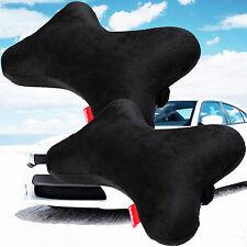 2 pcs Dog Bone Car Neck Pillow Head Rest Memory Foam Travel Trip Posture Support