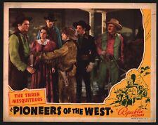 PIONEERS OF WEST Lobby (VeryGood) '40 Cowboy Western Three Mesquiteers 15934