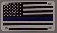 THIN BLUE LINE US Flag BIKE PLATE bicyclee made in USA police/sheriff