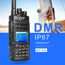 DMR Radio Digital Walkie Talkie Waterproof TYT MD398 UHF 400-470MHz 10W HF Radio