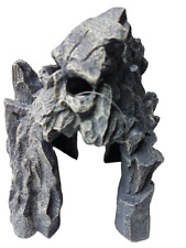 Gary Rock Formation with Face Artificial Aquarium Ornament, Fish Tank Decoration