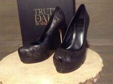 Truth Or Dare By Madonna Langlade Women's Platform Pumps Black 6M NEW NWB