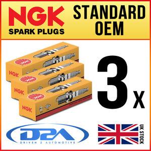 3x NGK ZFR6V-G Standard Spark Plugs For VAUXHALL CORSA D 1.0 12/09-->06/15