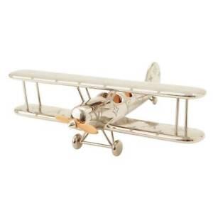 Louis Vuitton LV Selection Press Papier Monogram Airplane Object GI0490 Silver