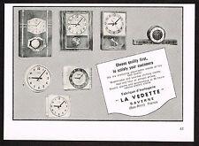 1950's Vintage 1957 La Vedette Clock Co. - Paper Print AD