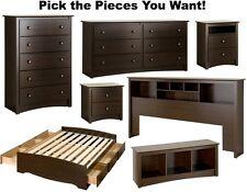 bedroom furniture sets. Espresso Bedroom Furniture Sets Dresser Drawer Nightstand Chest Dressers  Durable eBay