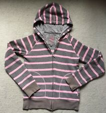 Next Brown & Pink Stripe Hoodie Jumper UK 8
