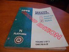 1998 Service Manual Grand Am/Achieva/Skylark (Vol. 2 of 3) JUL5193 DS935