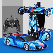 Deformed Car,Transforms into robot rambo blue