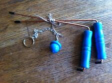 BLUE DOWSING RODS  4X7 BLUE PENDULUM PARANORMAL GHOST HUNTING WATER