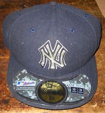 RARE NEW YORK YANKEES ON FIELD BASEBALL CAP CAMOFLAGE LOGO SIZE 7+1/2 NWT MLB