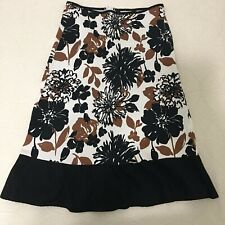 Jonathan Martin Womens Floral Skirt Small Multicolored 97%cotton3%spandex #80