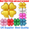 "18"" Foil Balloon 4 Heart Leaf Style Balloon For Birthday Wedding Party Love"