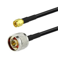 2-Pack N Type Male to SMA Male Low Loss Coaxial Pigtail Cable 4 feet