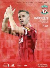 Liverpool V Burnley Premier League Programme 2019-20  July 2020