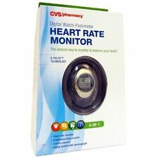 Cvs - Digital Watch-Pedometer Heart Rate Monitor - Medium - S-Pulse Technology
