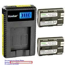 Kastar Battery LCD Charger for Canon BP-511 BP-511A & EOS 40D EOS 50D EOS D30